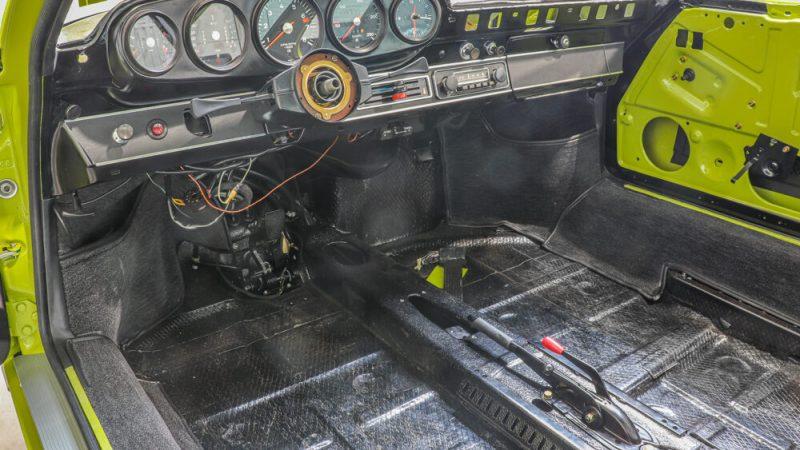 1972 Porsche 911 T Coupé Lime Green beltér